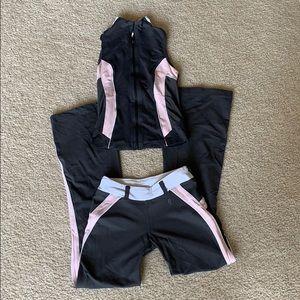 PH8 gray pink and white workout set sz XS